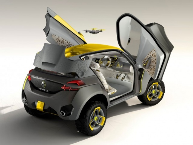 Renault Kwid z dronem