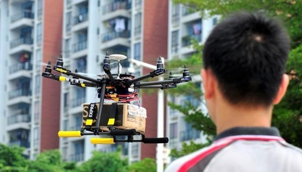Drony w mieście