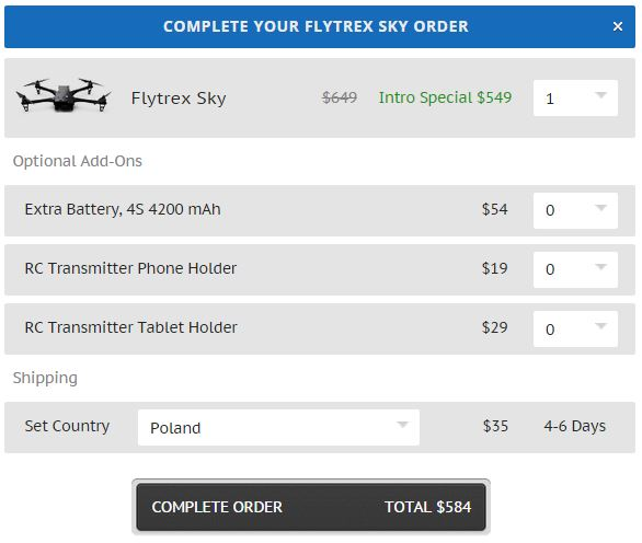 Drony dosawcze Flytrex Sky