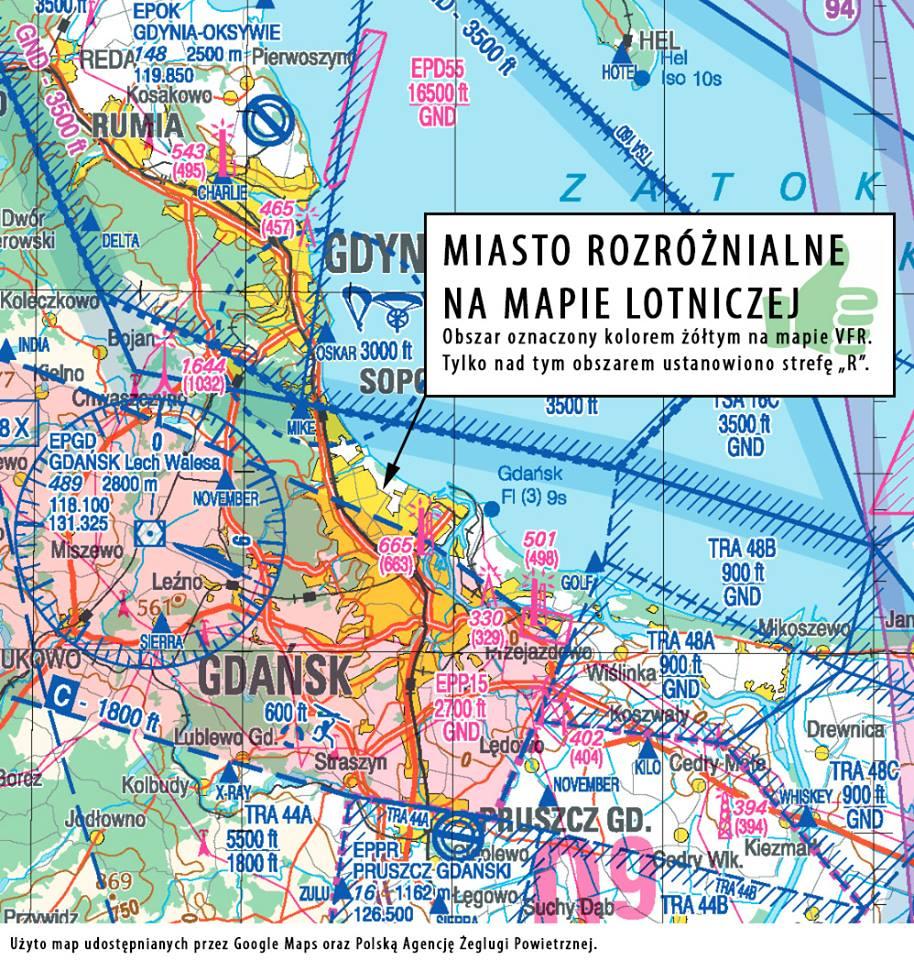 Reda na mapie VFR