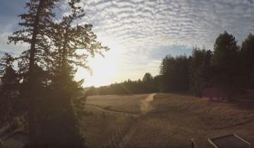 Kadr z pierwszego filmu z drona GoPro