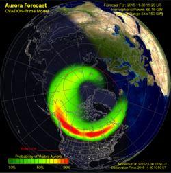 Kp-index - promieniowanie słoneczne