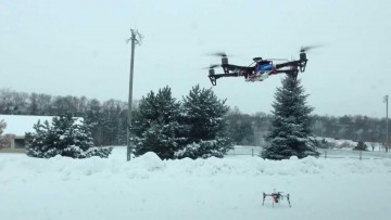 Latanie dronem zimą