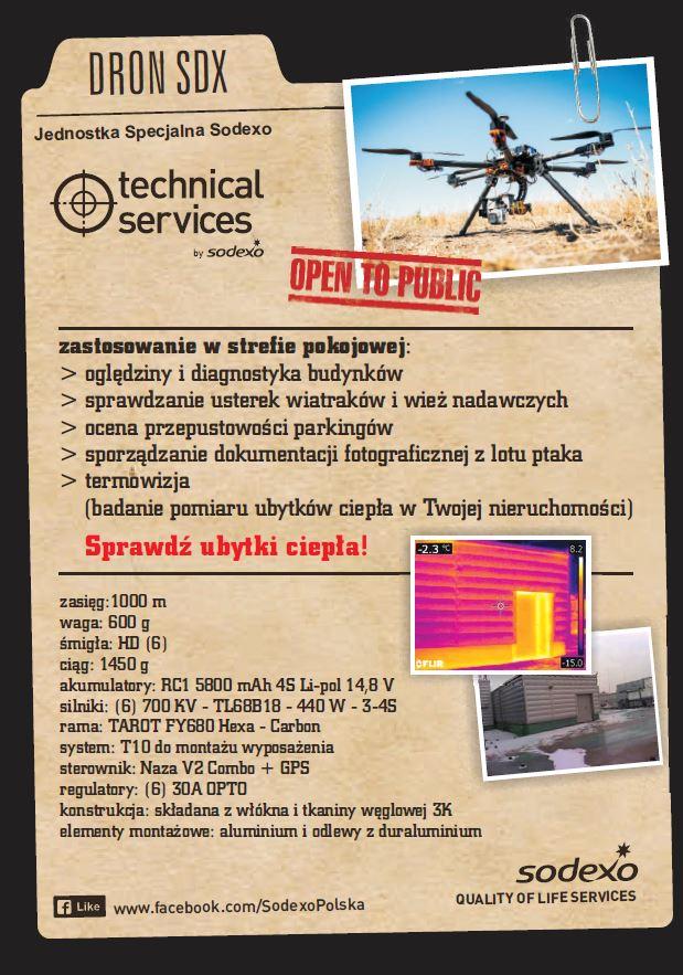 Dron SDX Sodexo