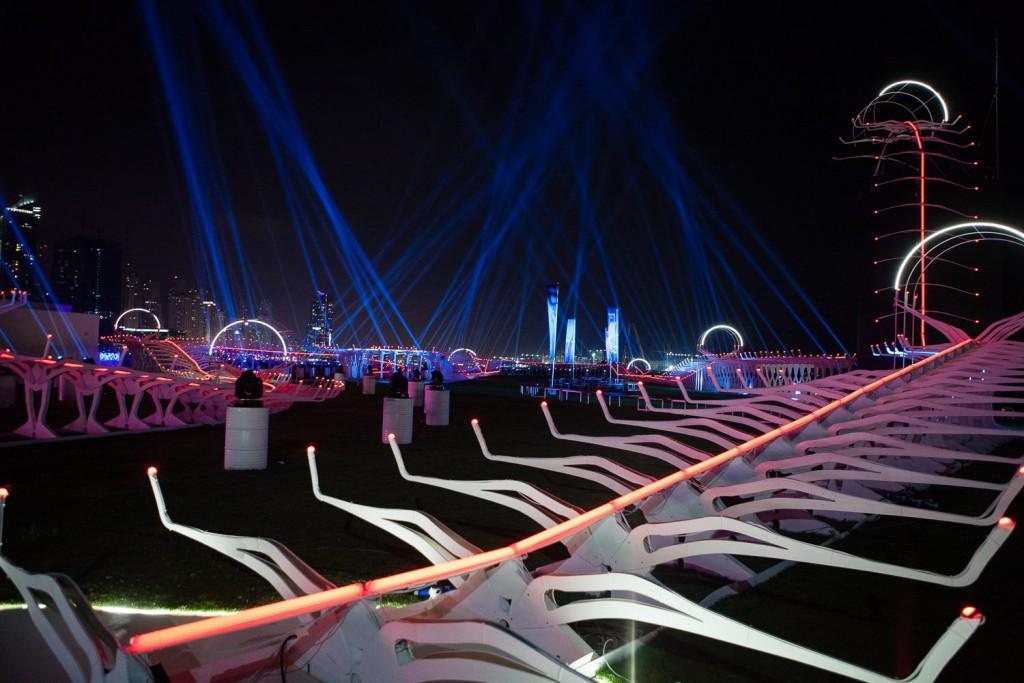 Główny tor wyścigowy na World Drone Prix 2016 w Dubaju