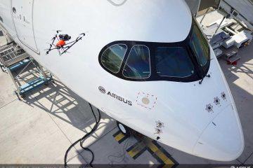 Kontrola jakości samolotu A350 XWB za pomocą drona