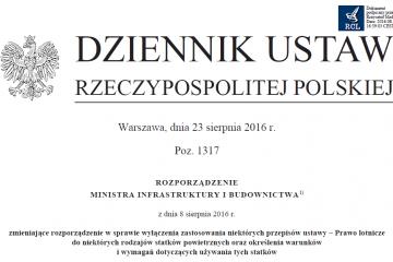 Rozporządzenie z 8 sierpnia 2016