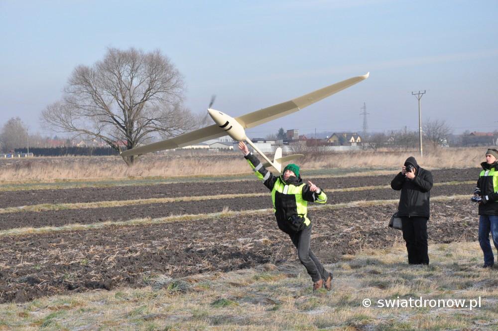 Dron Albatros firmy Novelty RPAS nad Krakowem - 13.12.2016