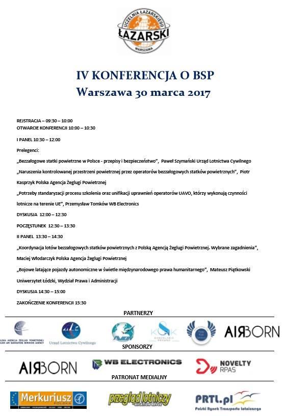 IV Konferencja o BSP - Warszawa, 30.03.2017
