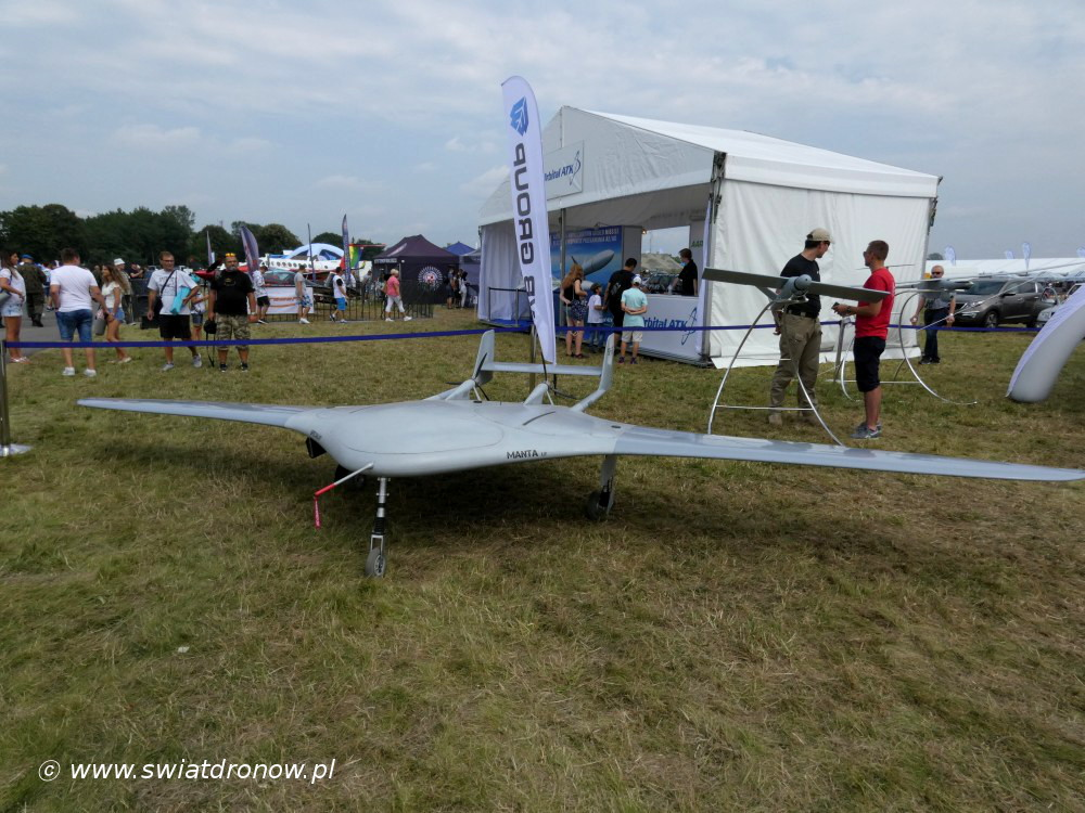 Dron Manta od WB Group na Air Show Radom 2017