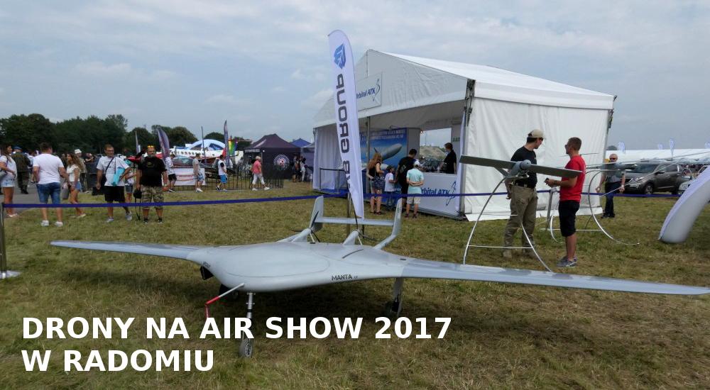 Dron Manta od WB Group na Air Show Radom 2017