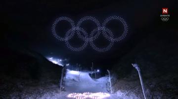 Drony Intel Shooting Star podczas ceremonii otwarcia Olimpiady Zimowej w Pjongczang 2018