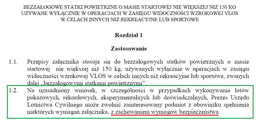 Punkt 1.2 z Załącznika 6a do rozporządzenia z 26 marca 2013 roku