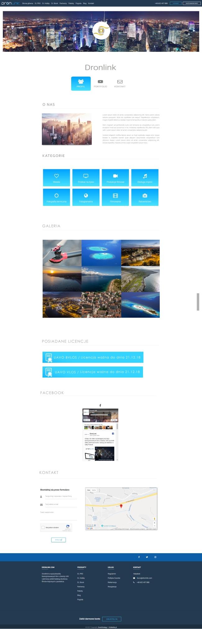 Dronlink.com - wizytówka firmy w serwisie dronlink.com