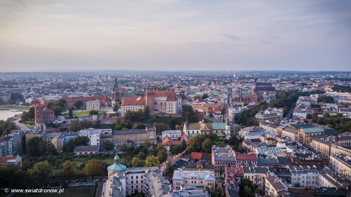 Kraków z powietrza - swiatdronow.pl