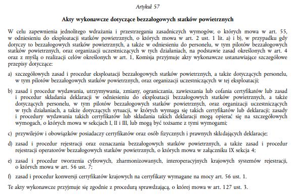 Akty wykonawcze dotyczące BSP w rozporządzeniu bazowym UE