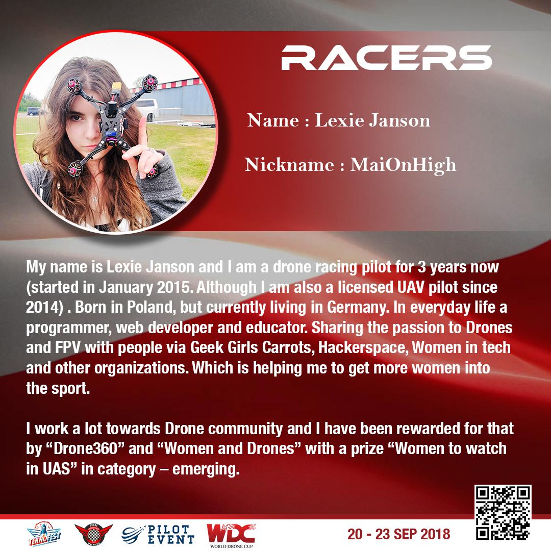 Lexie Janson - World Drone Cup 2018 w Stambule