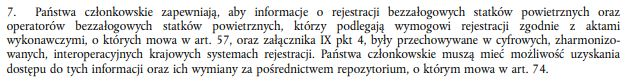 Rejestracja operatorów dronów i ich dronów - rozporządzenie bazowe Parlamentu Europejskiego