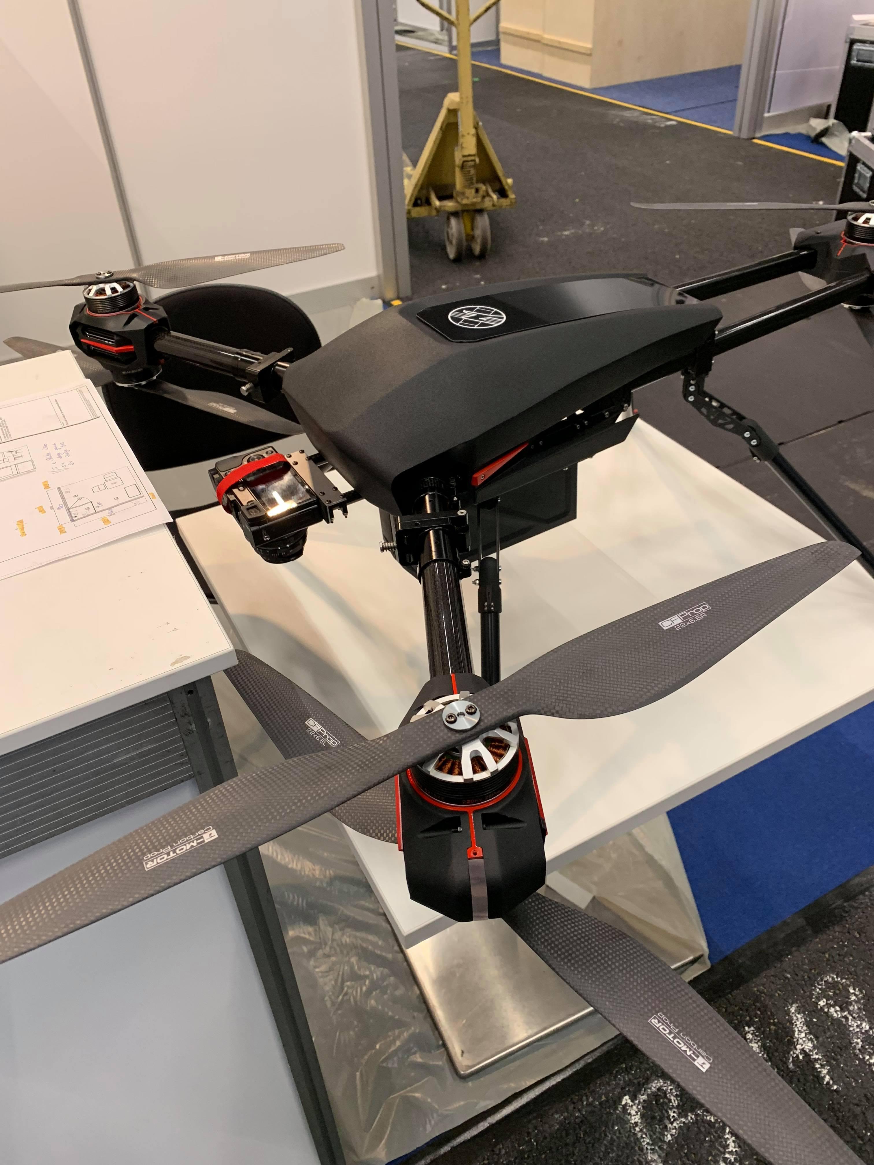 Hexacopter w układzie Y6 - FlyTech UAV na targach Intergeo 2018