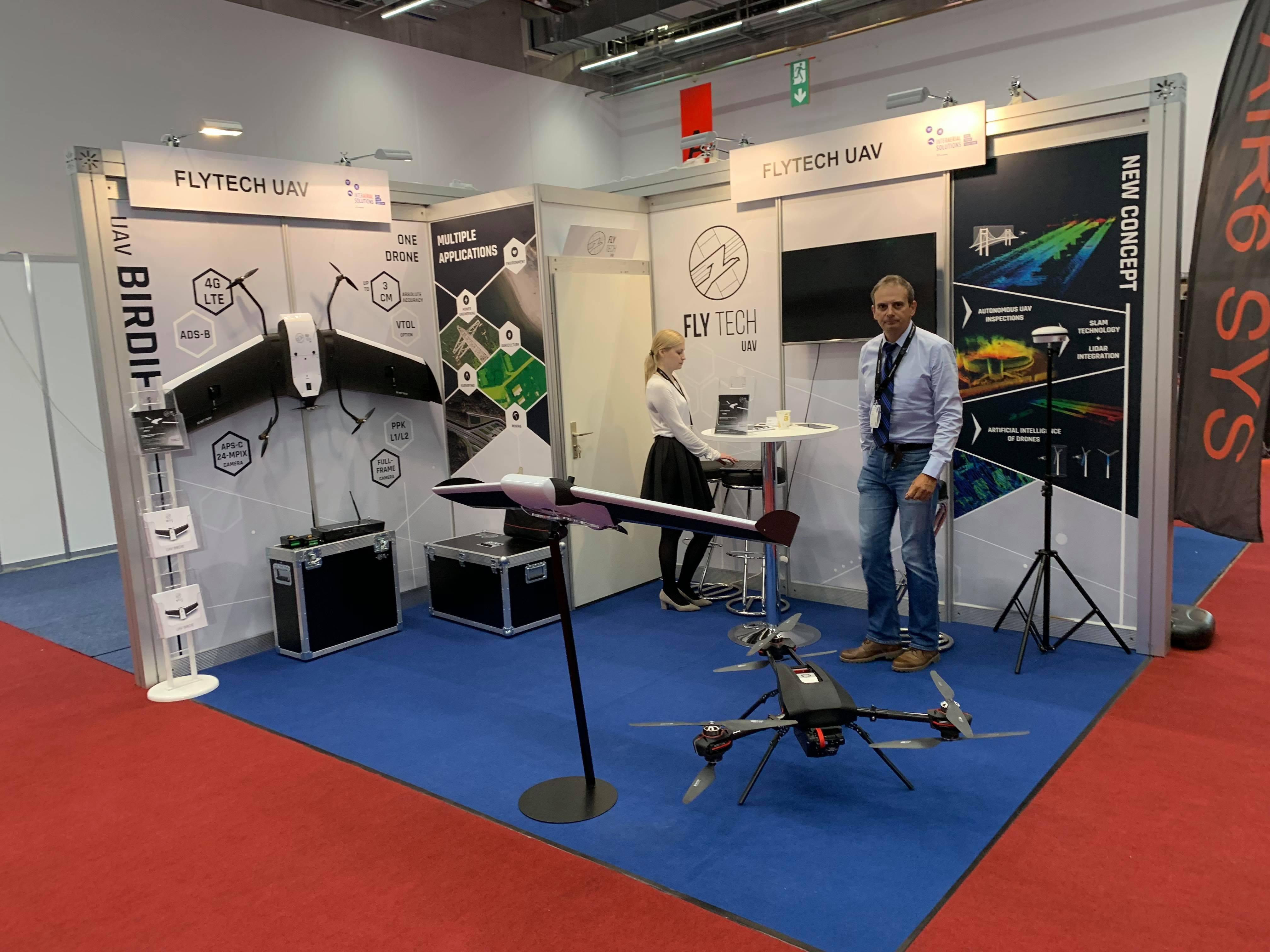 Stoisko FlyTech UAV na Intergeo 2018