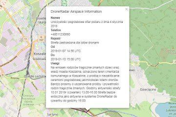DRAI - komunikat w sprawie ograniczenia lotów w Koszalinie w dniu 10.01.2018