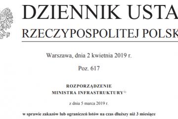 Rozporządzenie Ministra Infrastruktury z 5 marca 2019r.