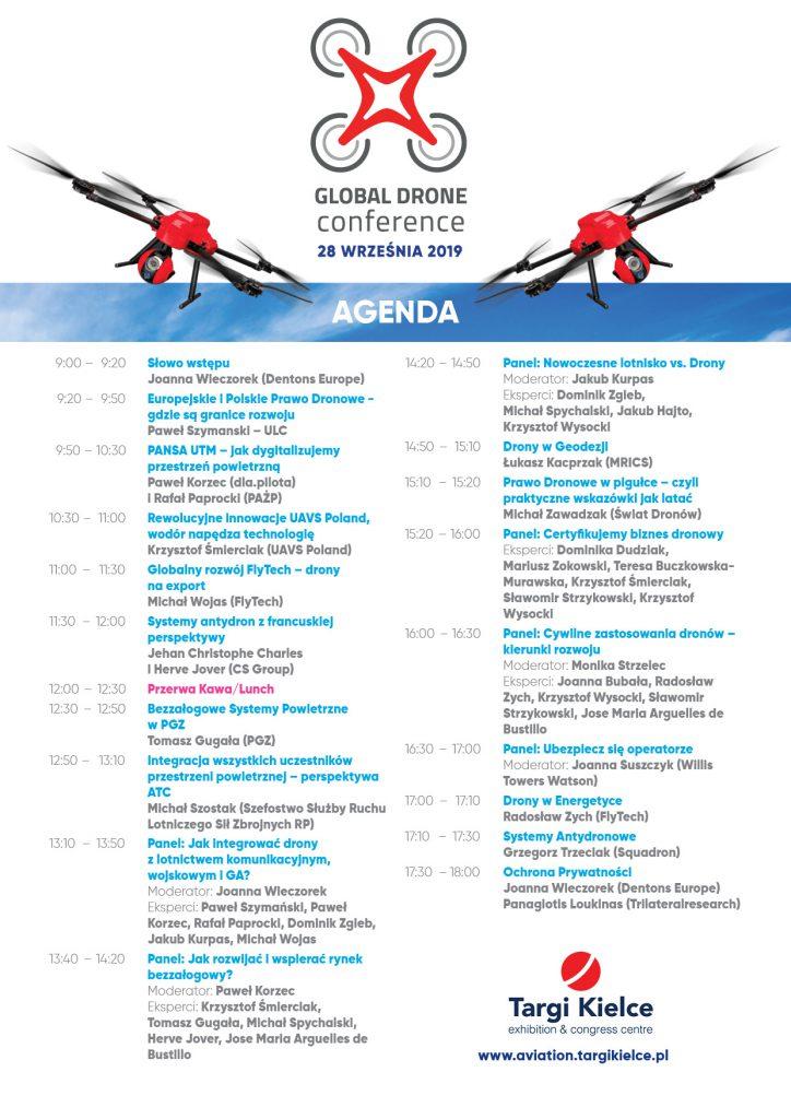 Agenda Global Drone Conference 2019 - Targi Kielce