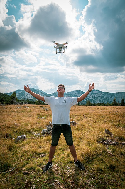 Dron na łonie natury