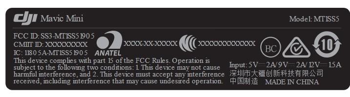 DJI Mavic Mini - rejestracja urządzeń w FCC
