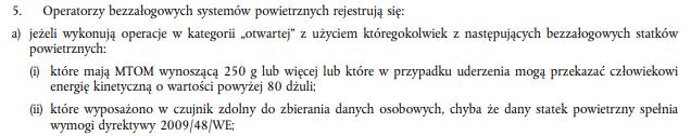 Obowiązek rejestracji dronów w kategorii otwartej - Rozporządzenie Wykonawcze UE
