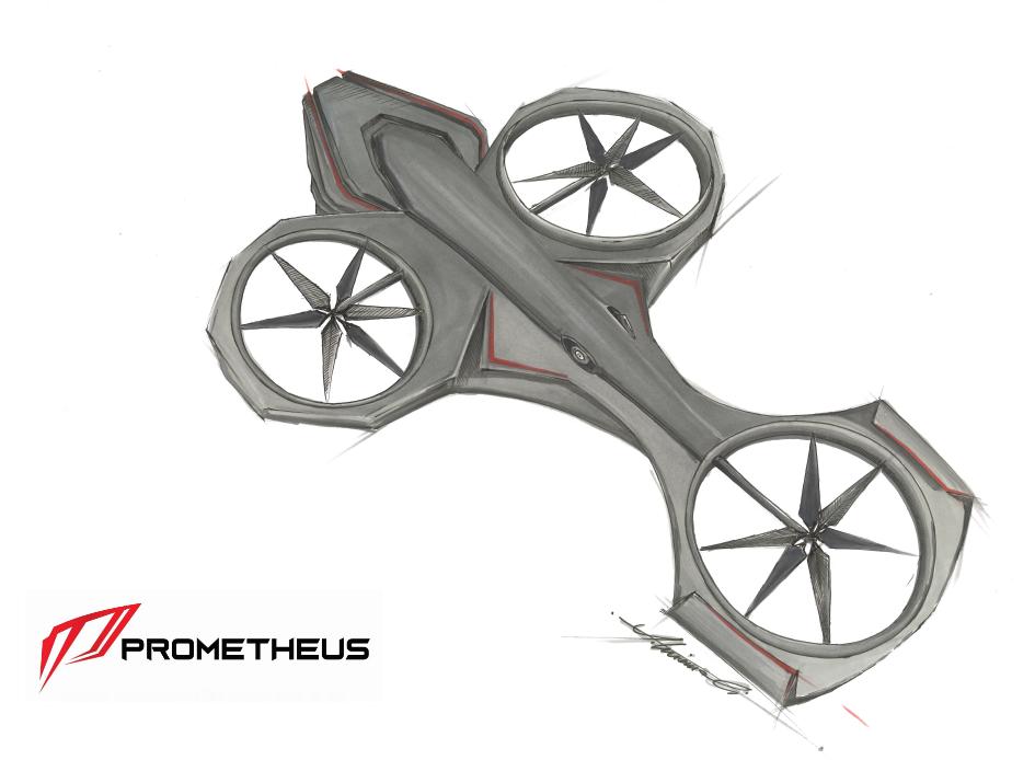 Dron Prometheus - szkic
