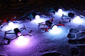 Przygotowania do pokazu dronów - Sylwester Łódź 2019 - Francuska firma Dronisos przy współpracy z Droneland
