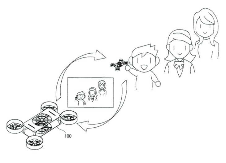 Drony Sony - szkic patentowy