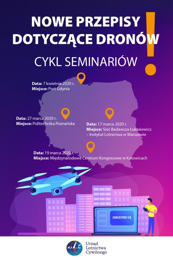 Seminaria ULC w sprawie przepisów UE dla dronów