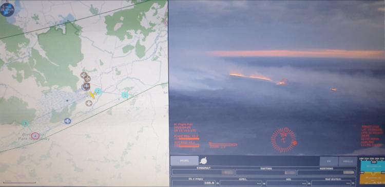 Drony FlyEye pomagają strażakom w gaszeniu pożarów