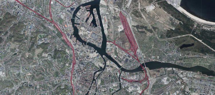 Geoportal - tereny zamknięte: linie kolejowe