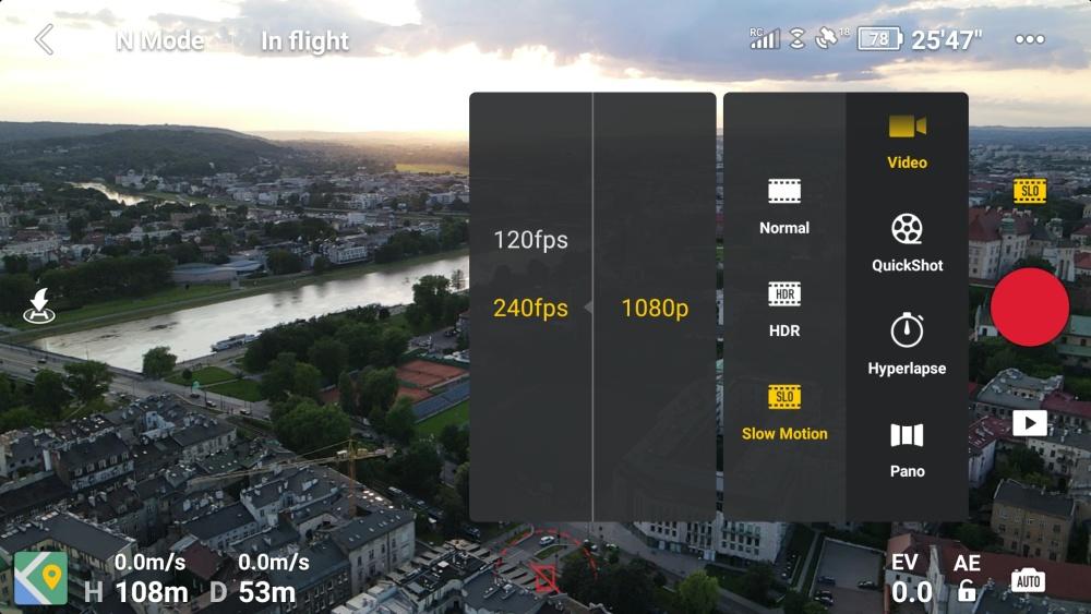 DJI Fly - aplikacja do obsługi DJI Mavic Air 2