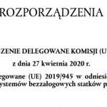 Rozporządzenie delegowane 2020/1058