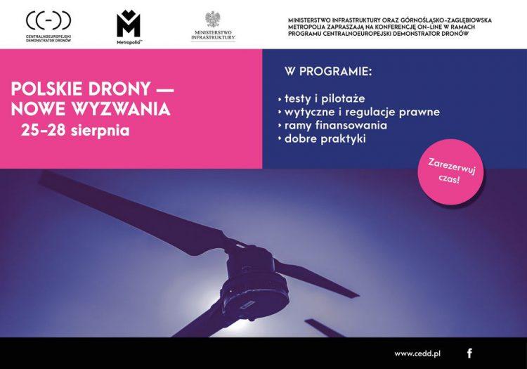 """Konferencja on-line CEDD - """"Polskie drony - nowe wyzwania"""" - 25-28.08.2020 r."""