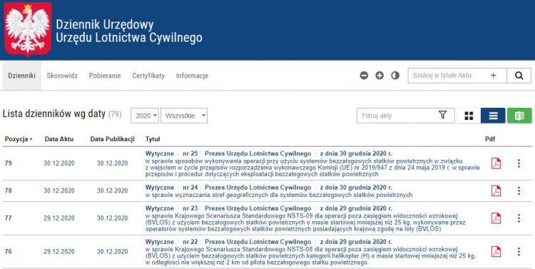 Dziennik Urzędowy ULC