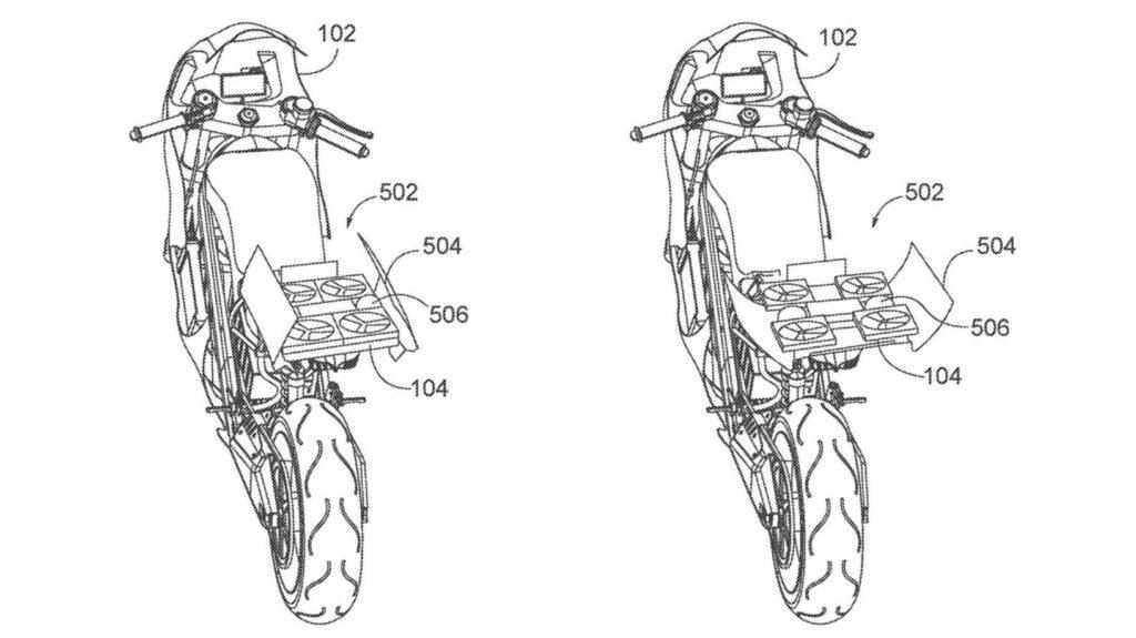 Patent Honda - motocykl z dronem