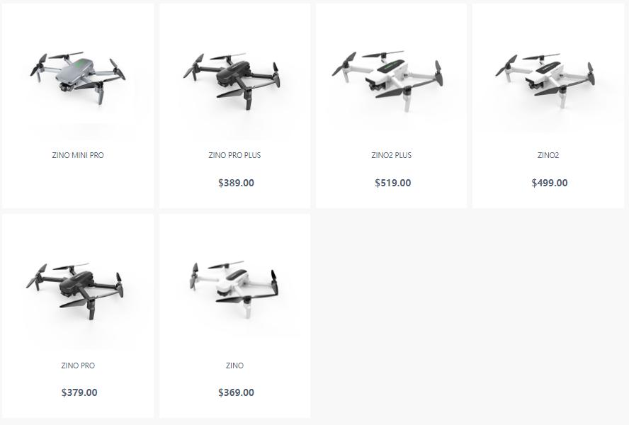 Hubsan ZINO - ceny dronów