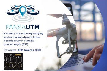 Nagroda ATM Awards 2020 dla PAŻP za system PansaUTM