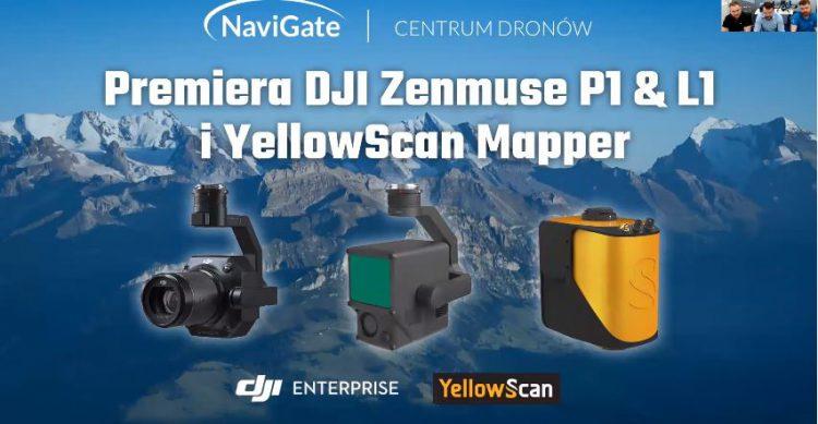 Premiera DJI Zenmuse P1 & L1 & YellowScan Mapper